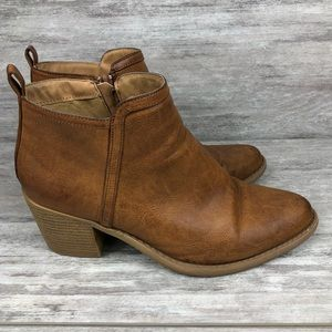 Qupid ankle boots brown